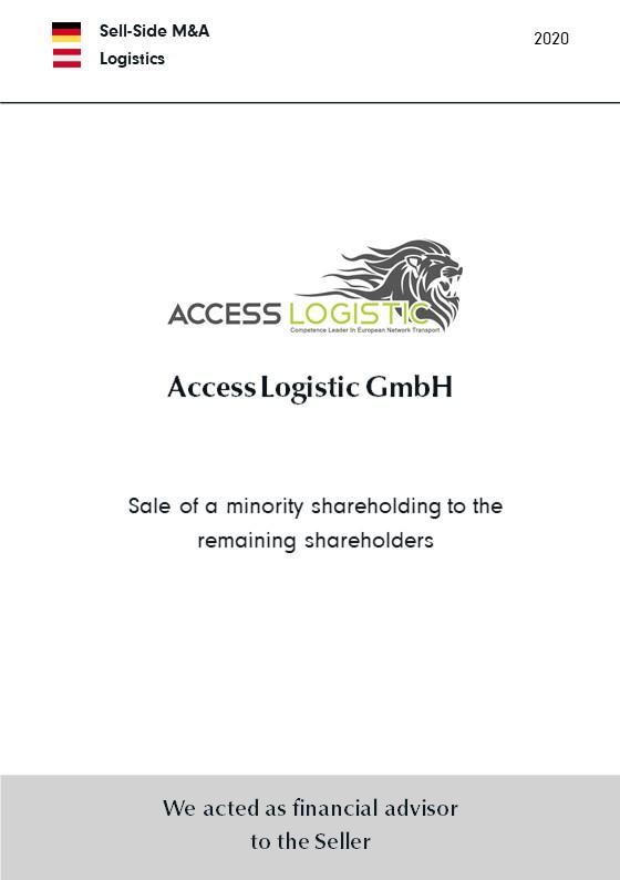 Access Logistik GmbH | Verkauf einer Minderheitsbeteiligung an die übrigen Aktionäre