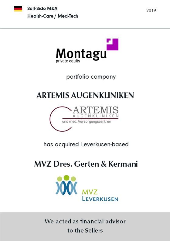 MVZ Dres. Gerten + Kermani | has been sold to | ARTEMIS | a portfolio company of | MONTAGU