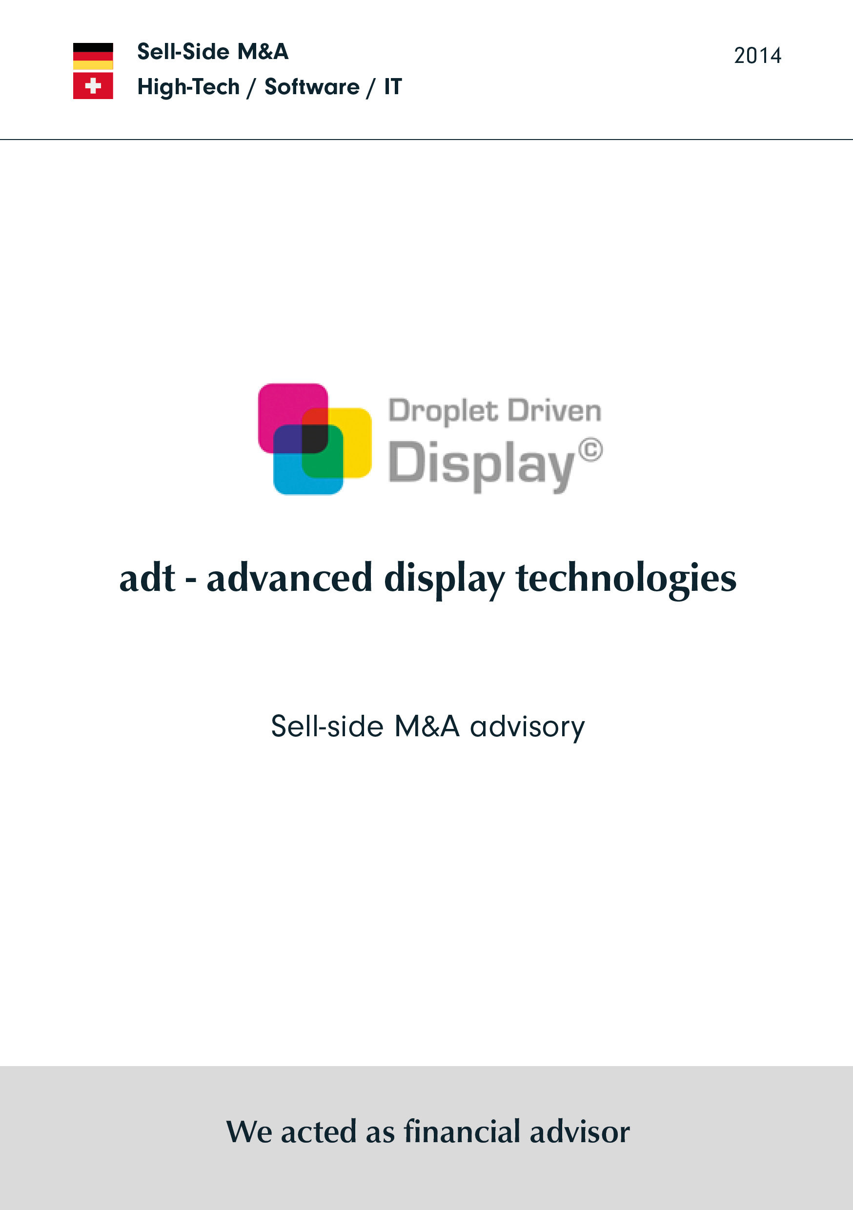 adt | Sell-side M&A Beratung
