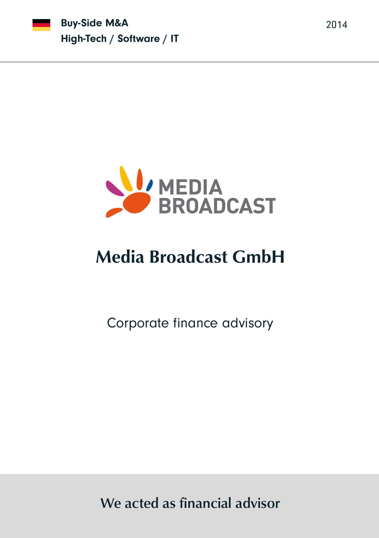 Media Broadcast | Corporate finance Beratung