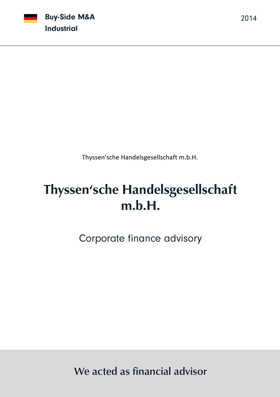 Thyssen'sche Handelsgesellschaft | Corporate finance Beratung
