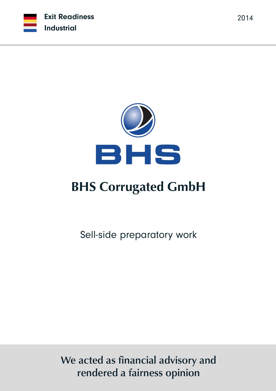 BHS Corrugated | Sell-side preparatory work