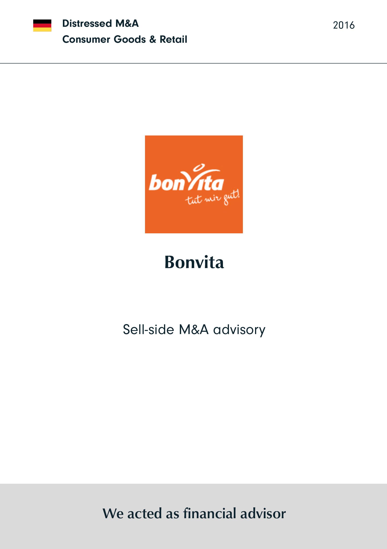 Bonvita | Sell-side M&A advisory