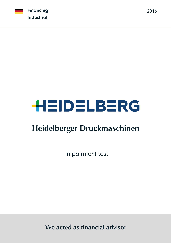 Heidelberger Druckmaschinen | Impairment test