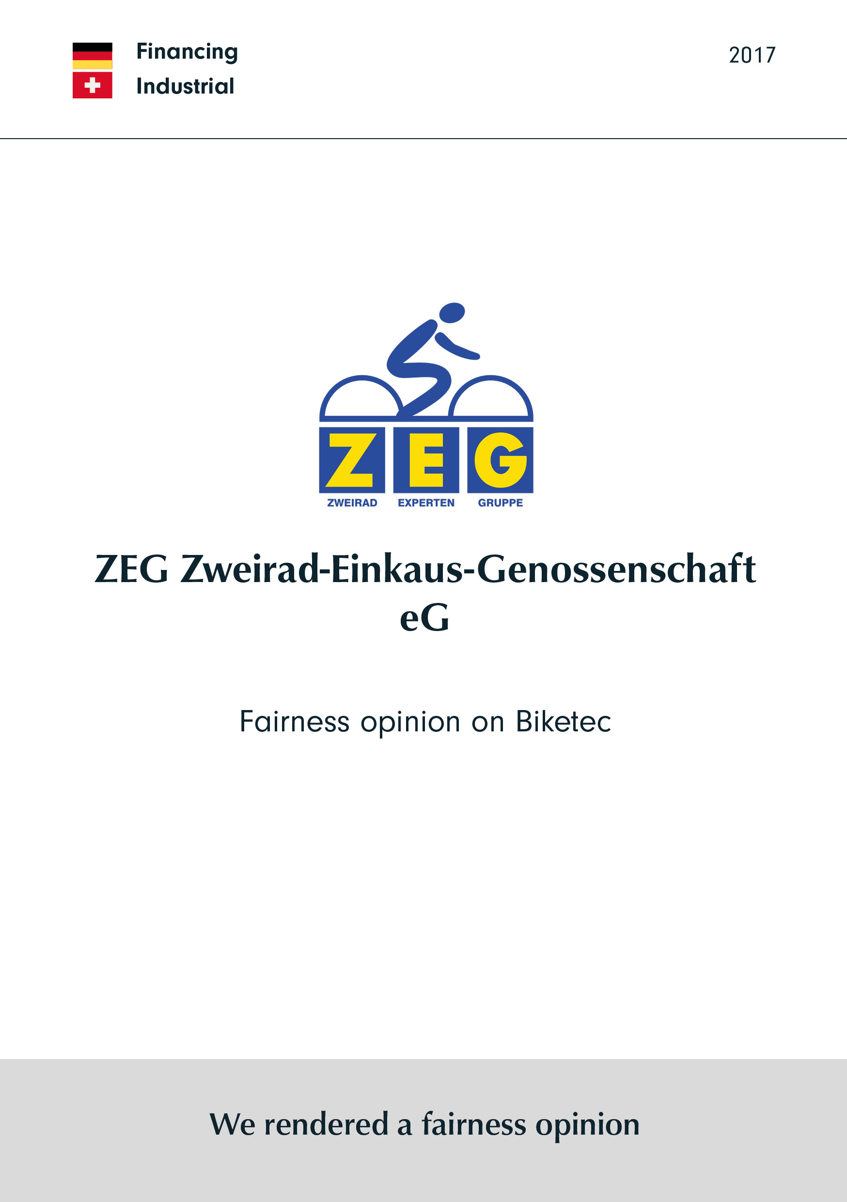 ZEG | Fairness opinion on Biketec