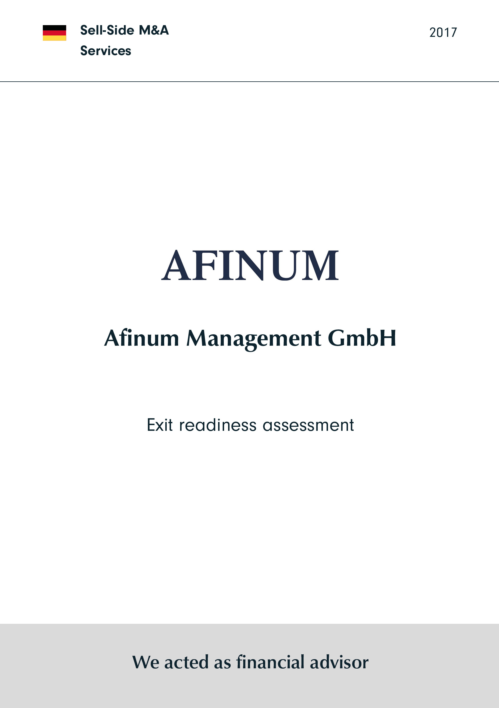 Afinum | Exit readiness assessment