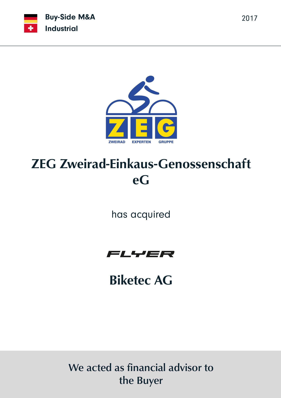 ZEG | has acquired | Biketec