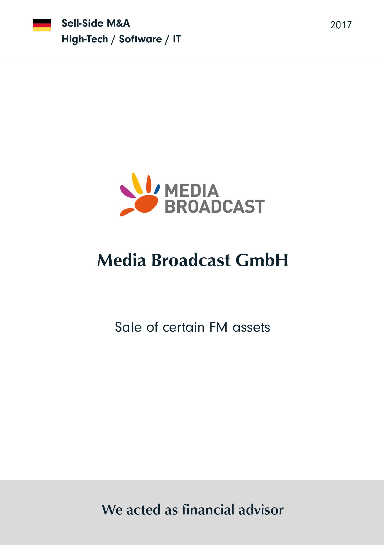 Media Broadcast | Sale of certain FM assets