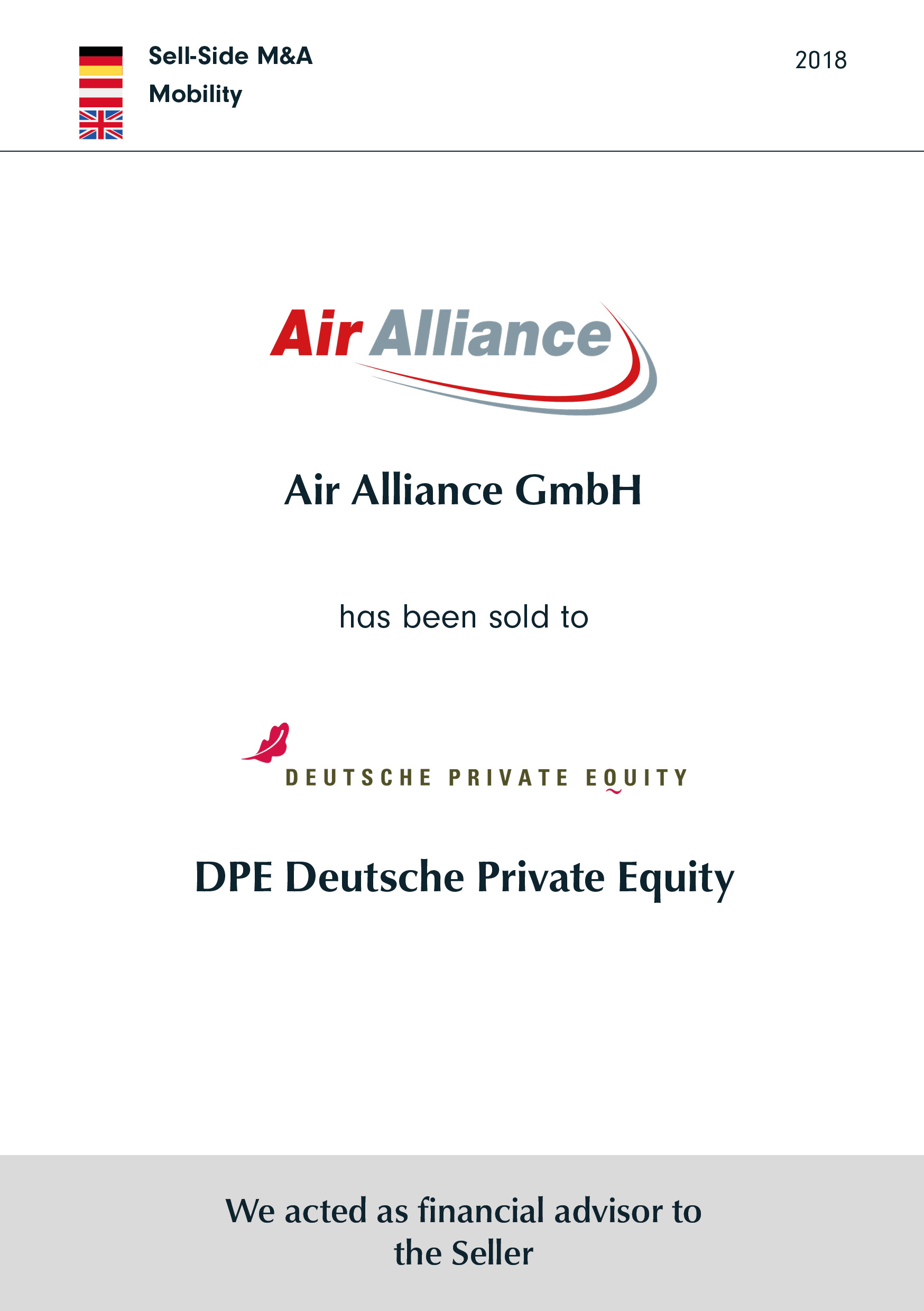 Air Alliance | has been sold to | DPE