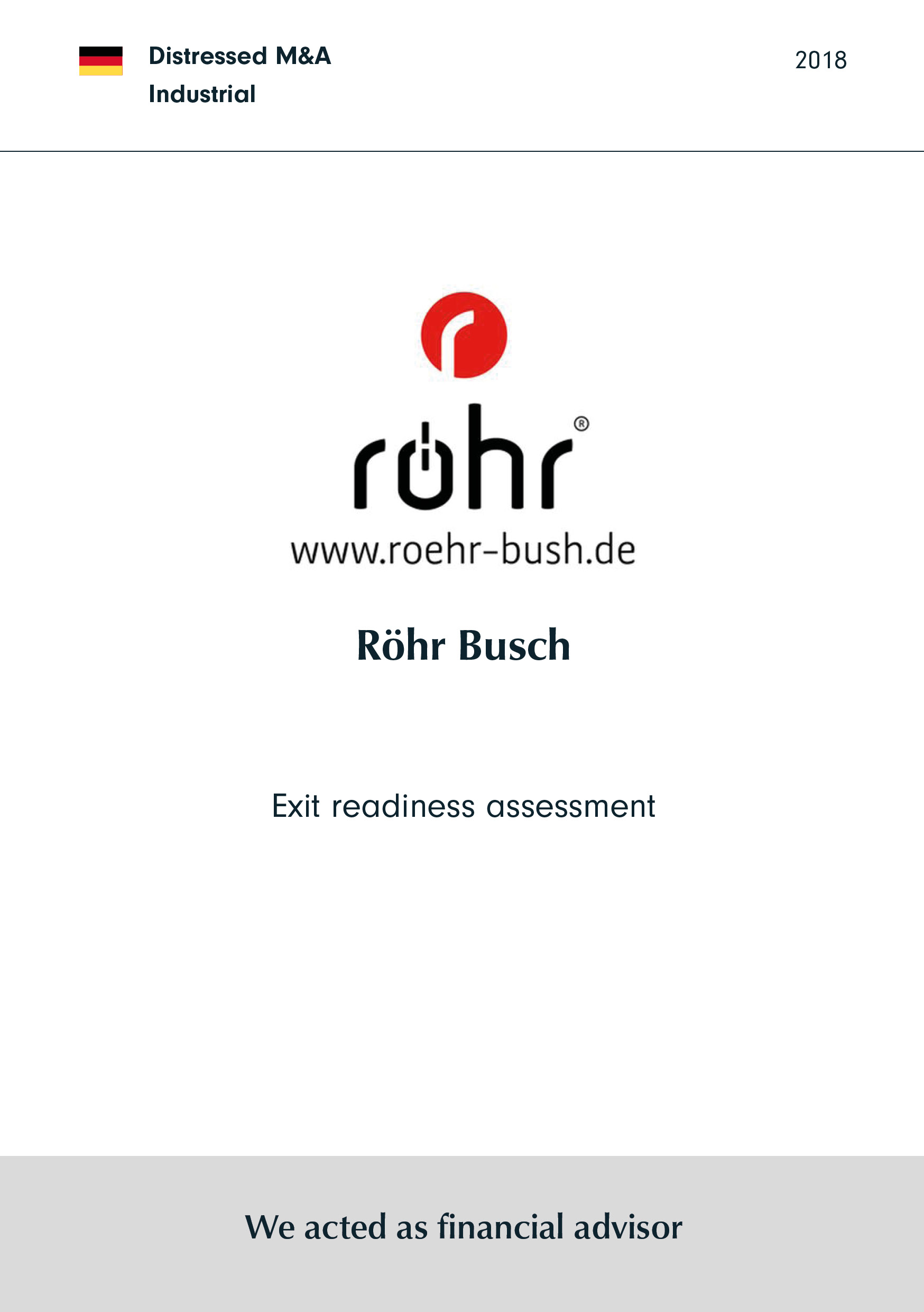Röhr-Bush | Exit readiness assessment