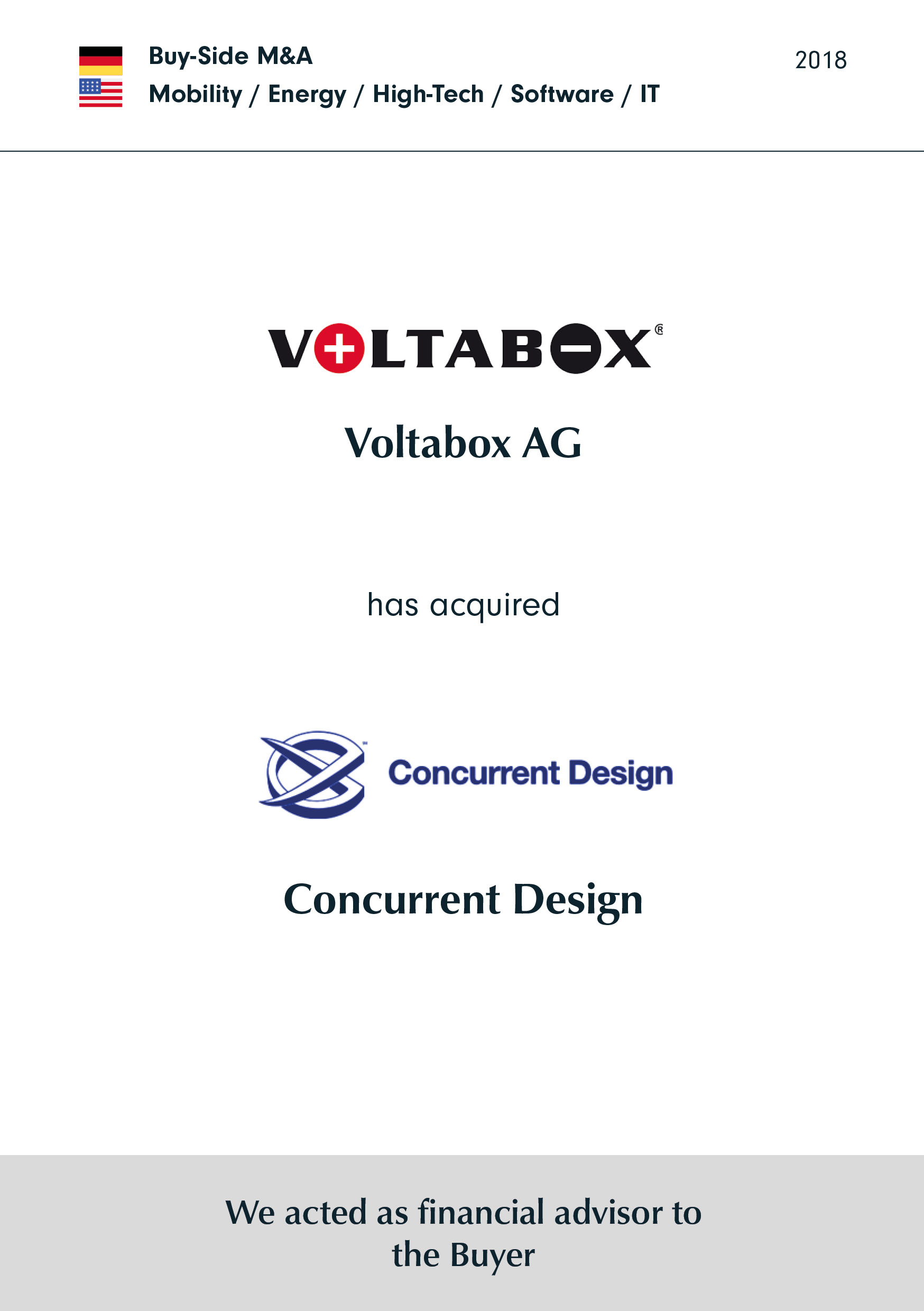 Voltabox | hat | Concurrent Design | erworben