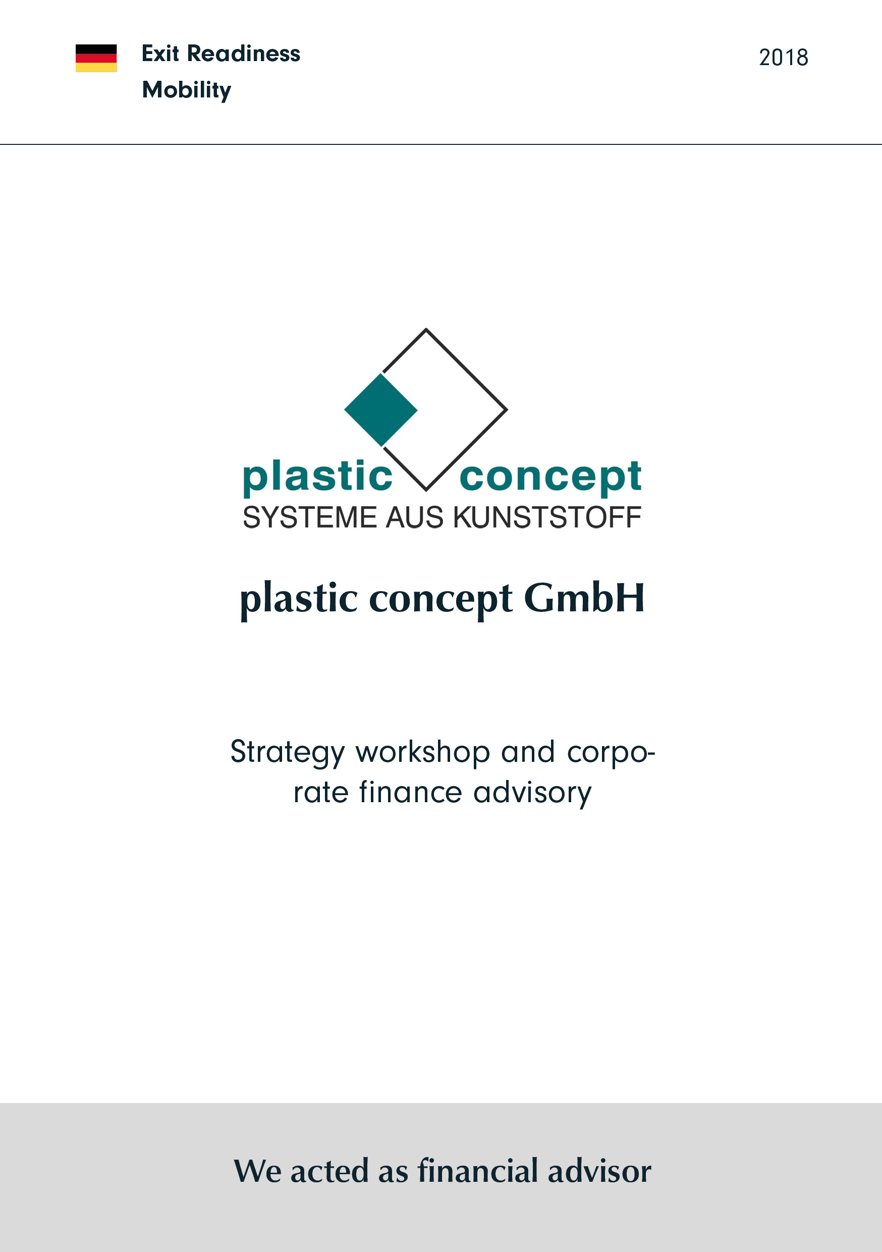plastic concept | Strategie workshop and Corporate finance Beratung