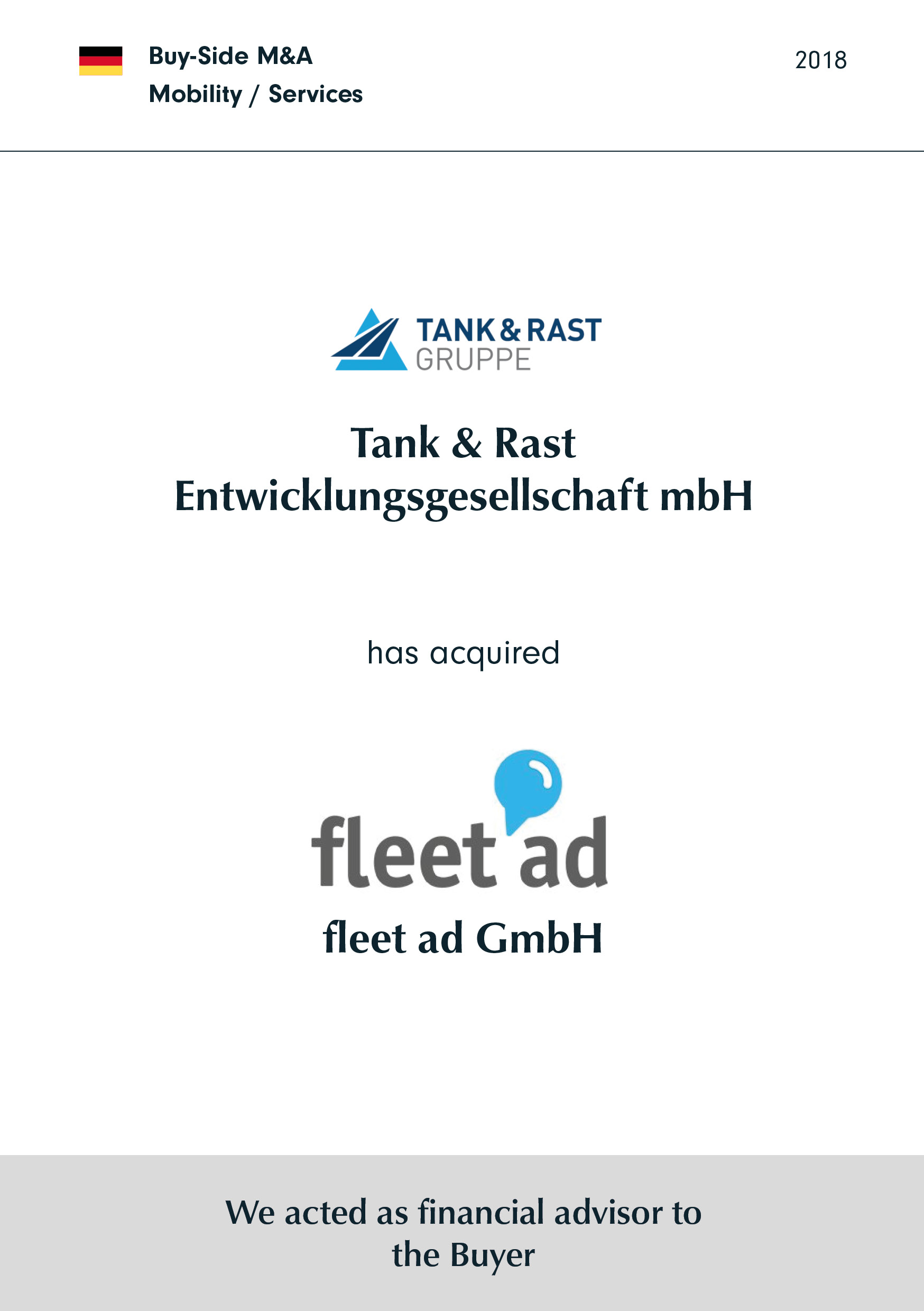 Tank & Rast | has acquired | fleet Ad GmbH