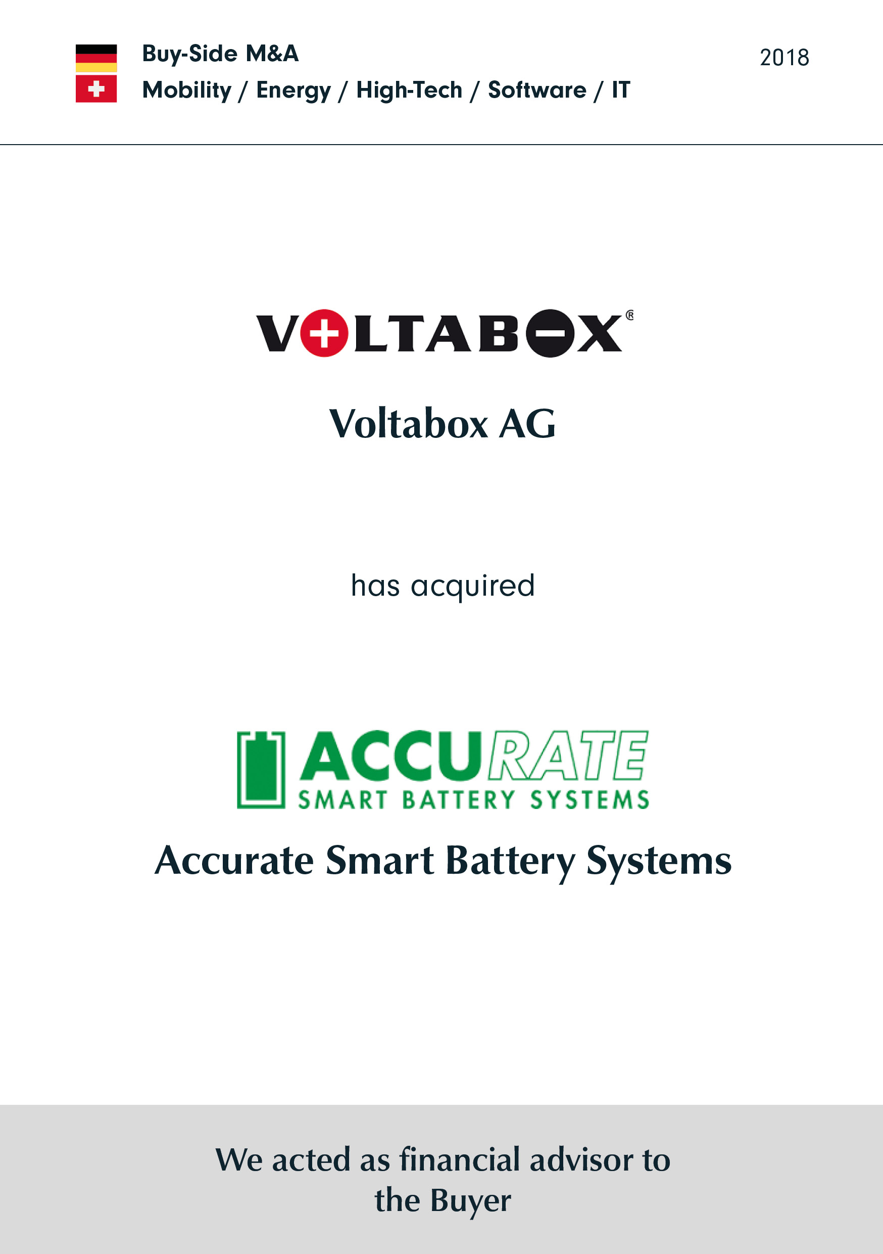 Voltabox | hat | Accurate Smart Battery Systems | erworben