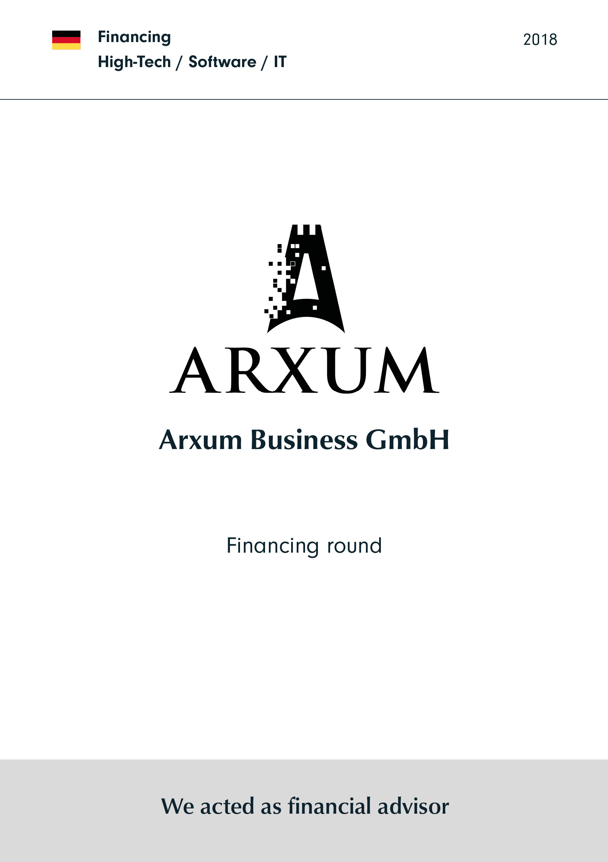 Arxum | Financing round