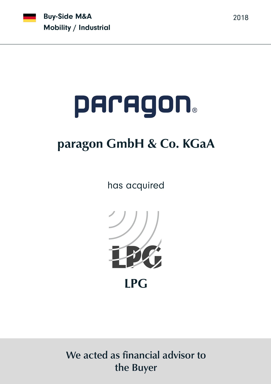 paragon | hat | LPG | erworben