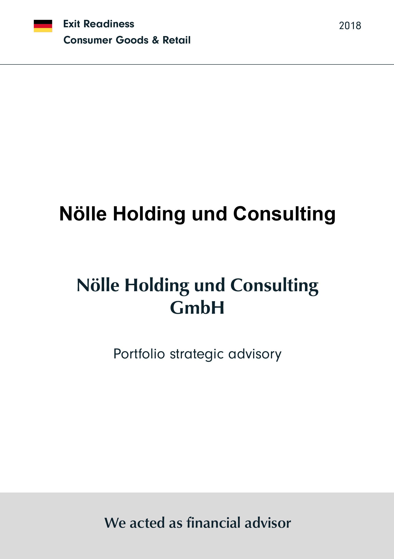 Nölle Holding und Consulting | Portfolio strategic advisory