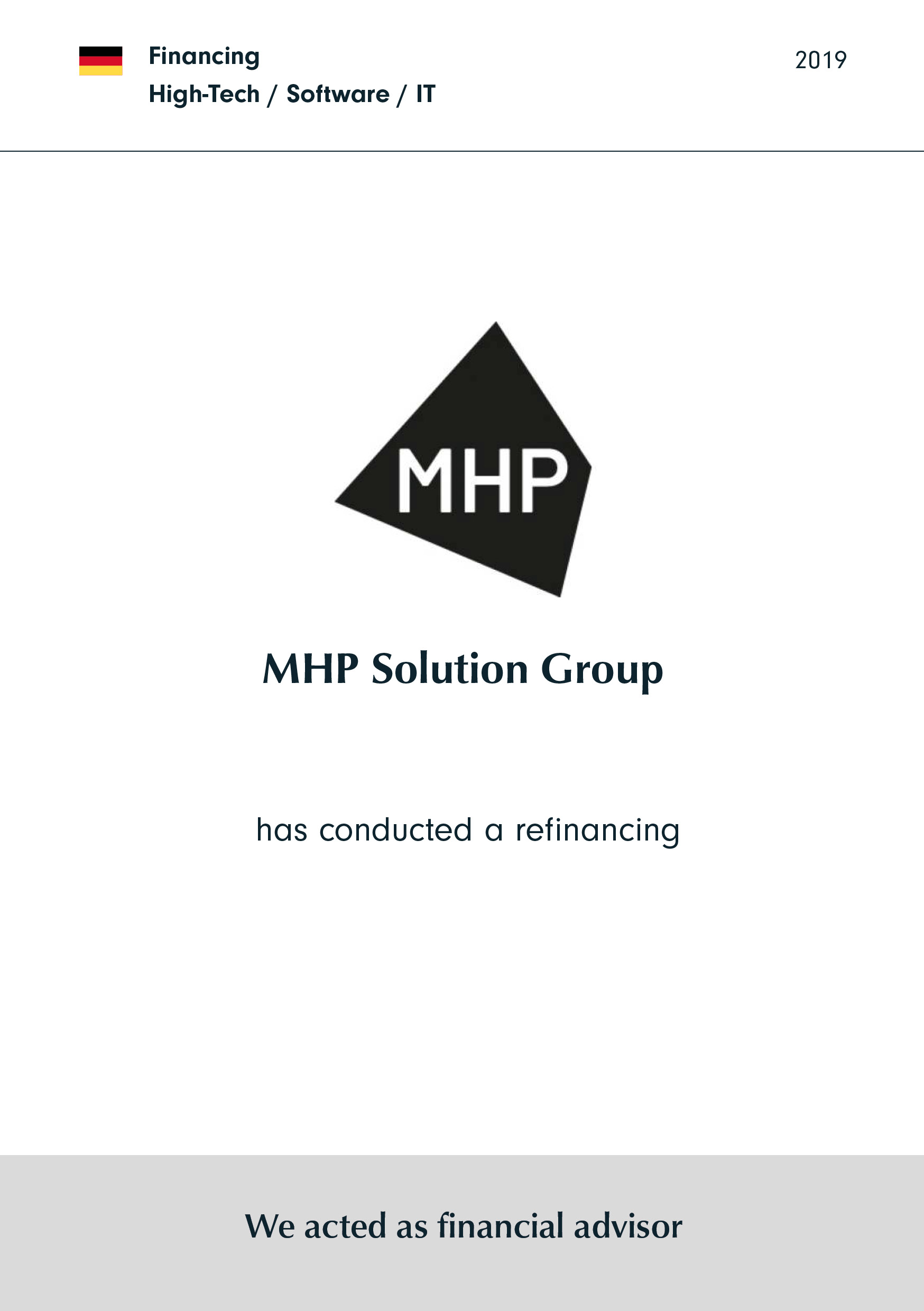 MHP | has conducted a refinancing