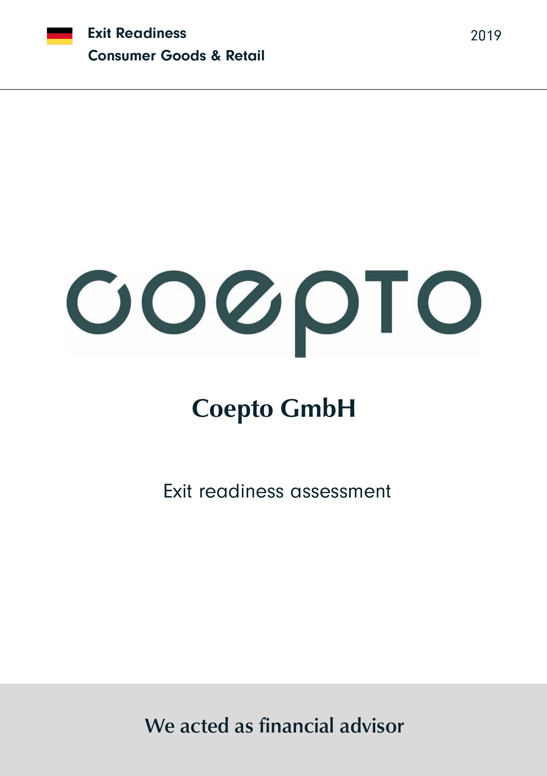 coepto   Exit readiness assessment