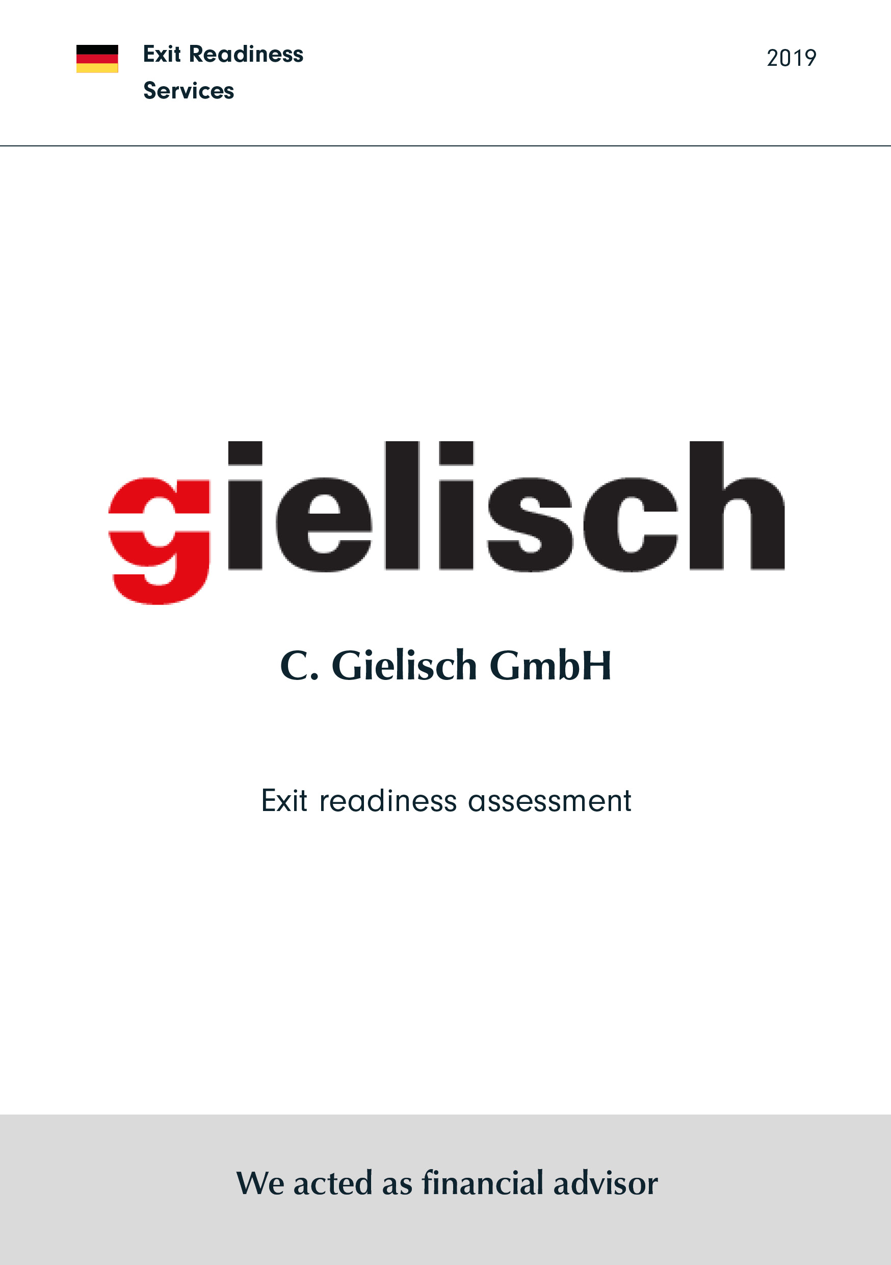 C. Gielisch | Exit readiness assessment