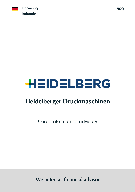 Heidelberger Druckmaschinen | Corporate finance advisory