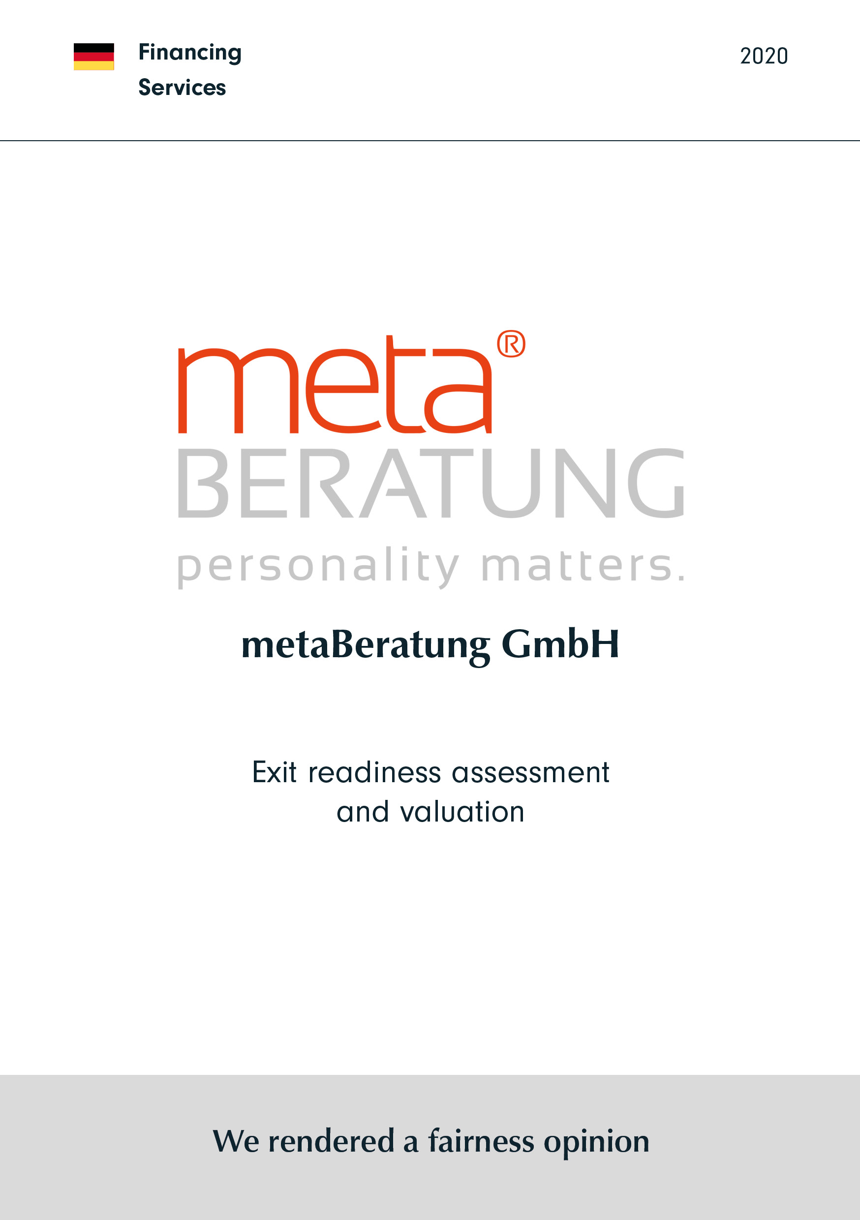 metaBeratung | Exit readiness assessment and valuation