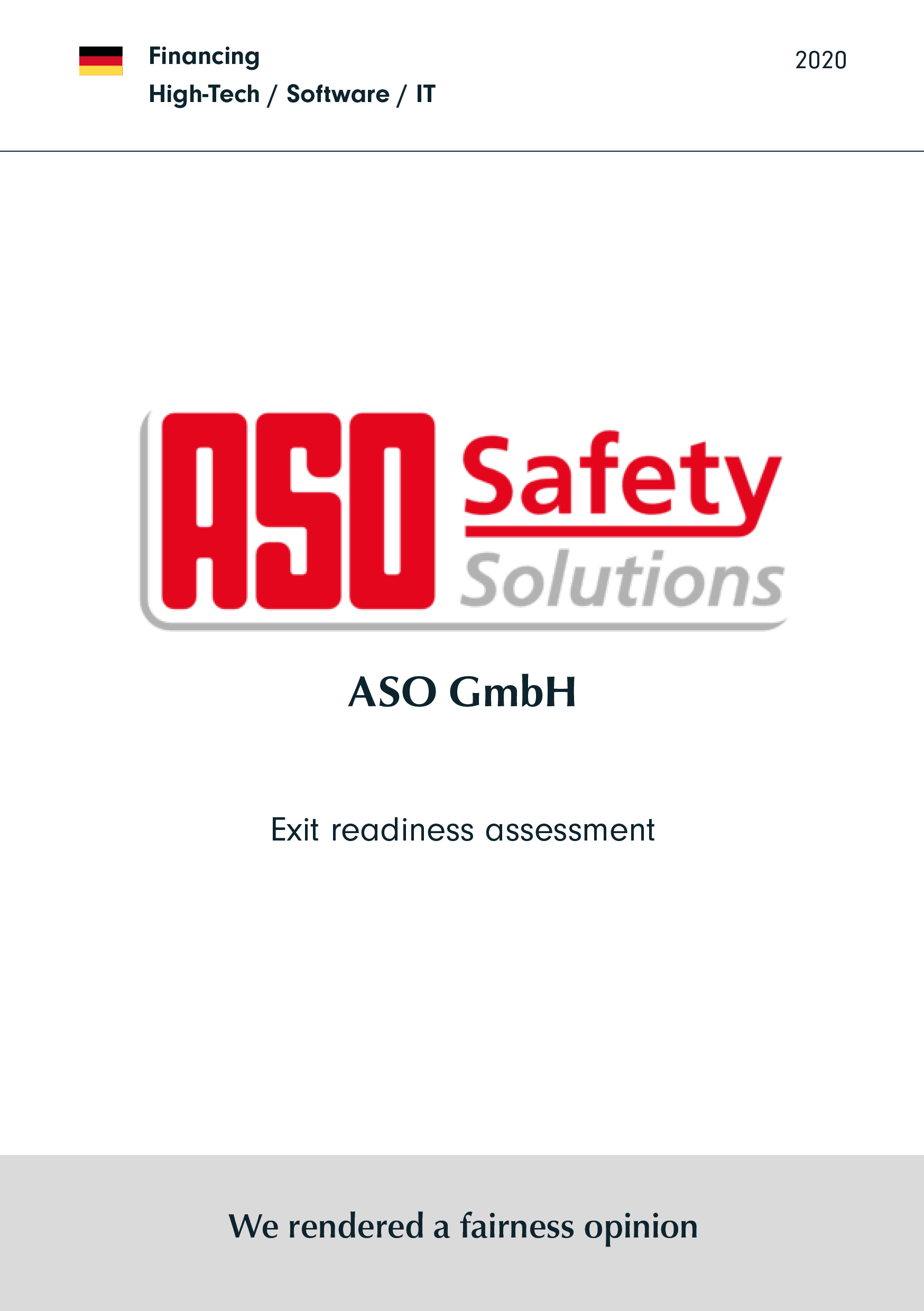 ASO GmbH | Exit readiness assessment