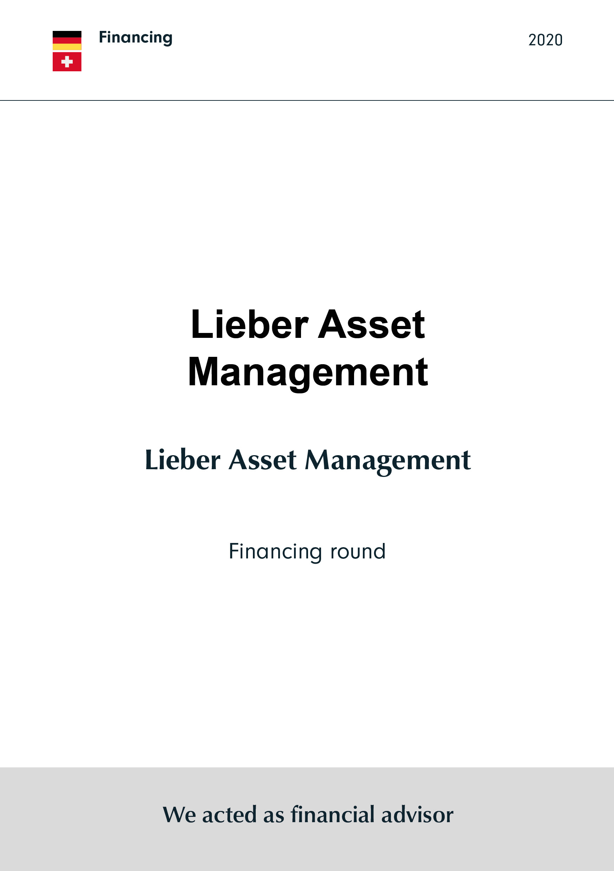 Lieber Asset Management | Financing round