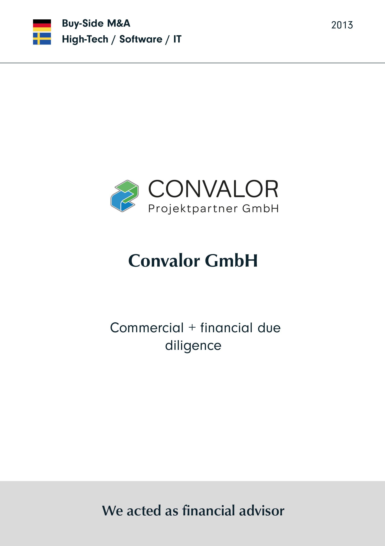 Convalor | Commercial + financial due diligence