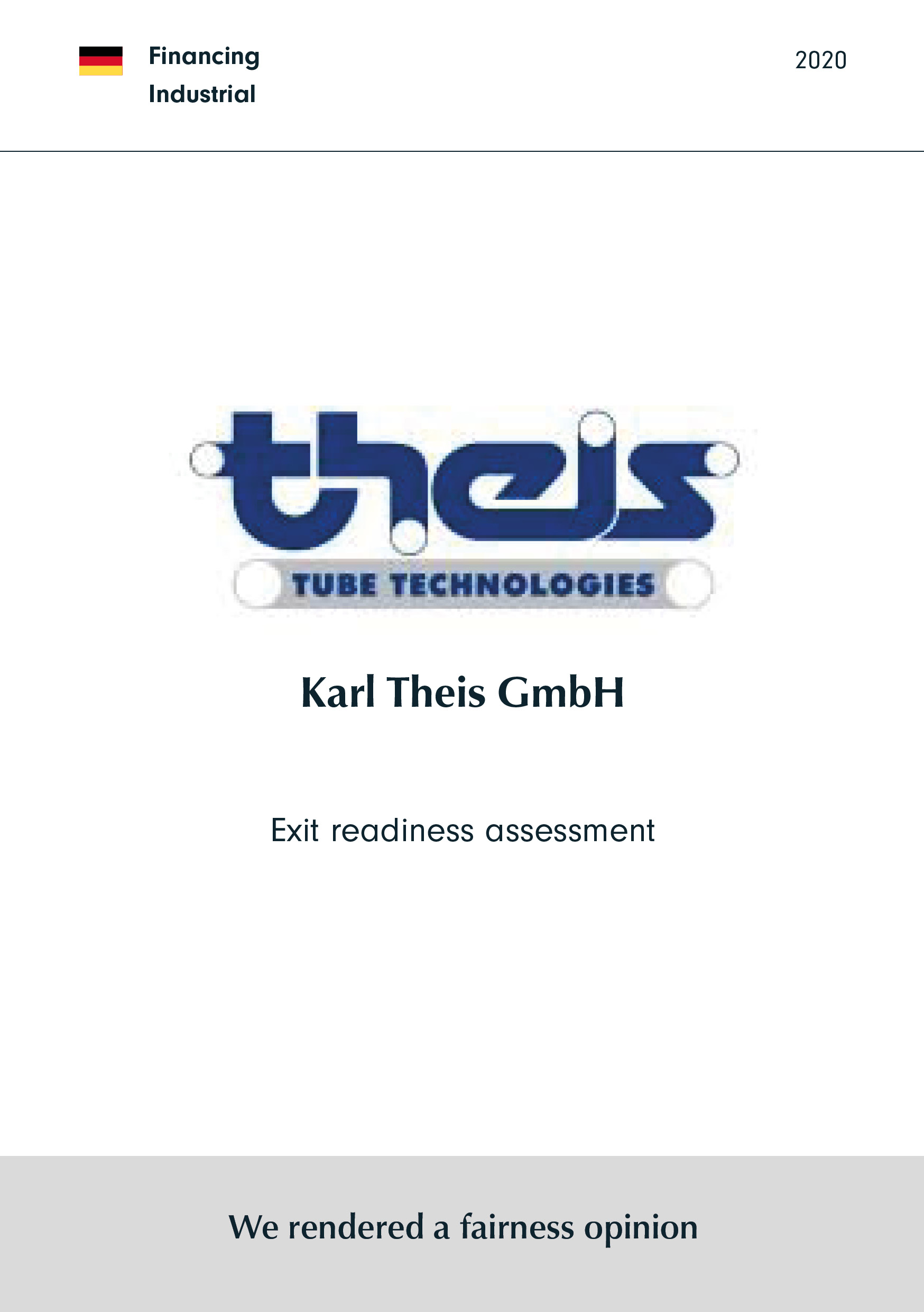 Karl Theis GmbH | Exit readiness assessment