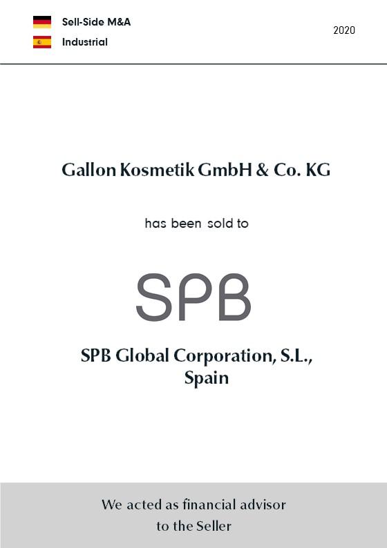 BELGRAVIA & CO. advised GALLON Kosmetik on its sale to Spanish SPB Global Corporation