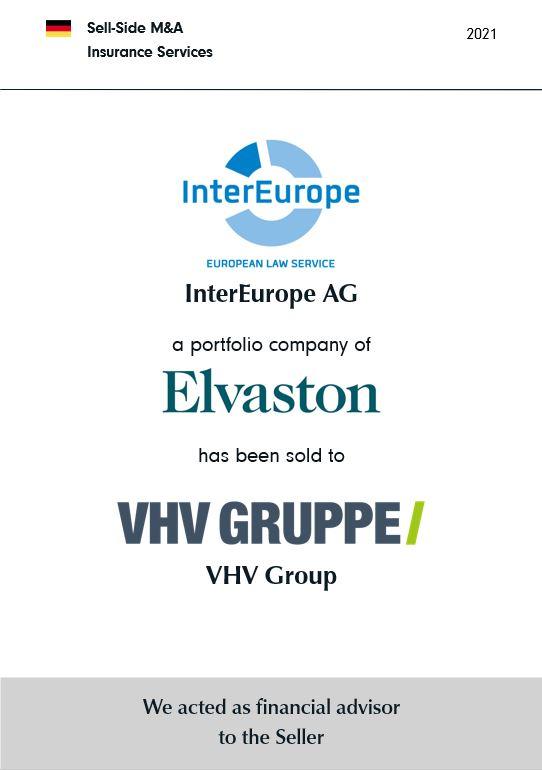 BELGRAVIA & CO. berät Elvaston Capital bei der Veräußerung der InterEurope AG European Law Service an die VHV Gruppe