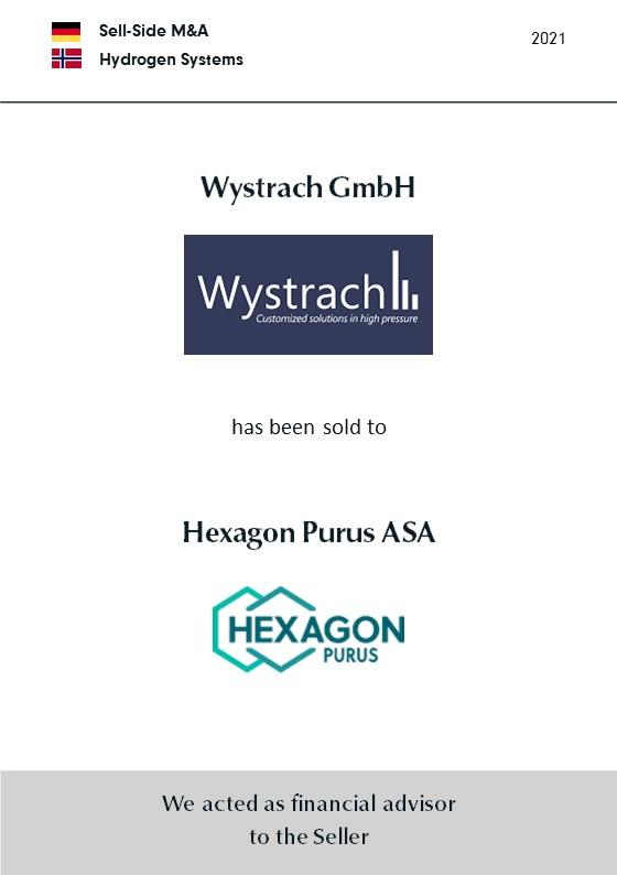 BELGRAVIA & CO. berät Gesellschafter der WWV Holding GmbH beim Verkauf der Wystrach GmbH an die norwegische Hexagon Purus ASA